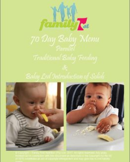 70 day Baby Menu Trad and BLW Mix frontpage